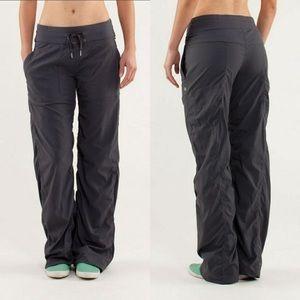 Lululemon Coal Dance Studio II Pants Unlined sz 8